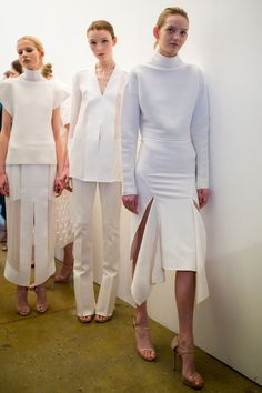 It's a white out backstage at #DionLee #AW15 #NYFW. #MATCHESFASHION MATCHESFASHION.COM
