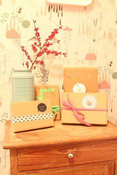 Gift wrapping ideas with packaging paper | Geschenke einpacken mit Packpapier