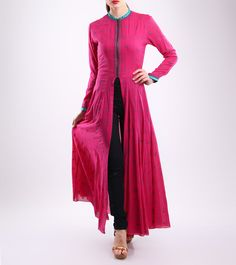 Pink Embroidered Handloom Cotton Kurti
