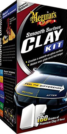 Meguiar's G1016 Smooth Surface Clay Kit  http://www.productsforautomotive.com/meguiars-g1016-smooth-surface-clay-kit-3/