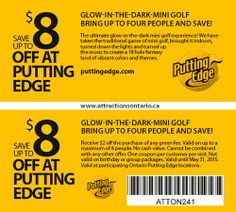 ATTRACTIONS ONTARIO - $8 Off Putting Edge. Steve Pacheco Real Estate. More coupons: bit.ly/1hupagH Ontario Attractions, Traditional Games, Printable Coupons, The Darkest, Stuff To Do, Bring It On, Real Estate, Summer, Real Estates