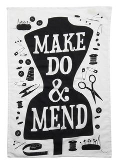 Word Up Tea Towel in Mend I HAVE to have a sewing nook in my house. Sewing Hacks, Sewing Crafts, Sewing Projects, Sewing Ideas, Vintage Sewing, Retro Vintage, Vintage Labels, Vintage Kitchen, Vintage Style