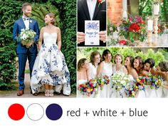 Color Crush: Red, White and Blue | Photo by: Jen Lynne Photography | TheKnot.com