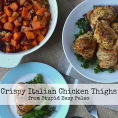 Crispy Italian Chicken Thighs