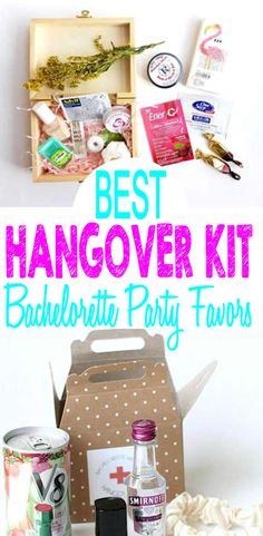 Best hang over kit favors for your upcoming bachelorette party. Goodie bags, treat bags, welcome kit / bags, alcohol and more. Bachelorette Gift Bags, Bachelorette Hangover Kit, Vegas Bachelorette, Bachelorette Party Themes, Hangover Kit Wedding, Hangover Kits, Party Gift Bags, Goodie Bags, Treat Bags