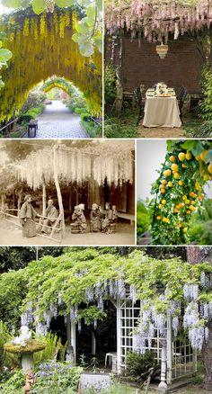 5 ideas for over hangs... Love the yellow flowers!
