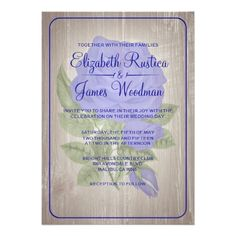 DealsRoyal Blue Rustic Floral Wedding Invitations AnnouncementsThis site is will advise you where to buy