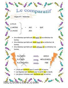 Le comparatif  (2 pages)