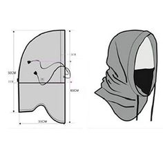 UPmall? Tactical Balaclava Windproof Hat Ski Face Mask Fleece Hood Sports Mask -Black