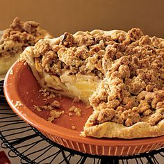 Sour Cream Apple Pie | MyRecipes.com  We had a pie like this once.  It was given to us as a gift.  My husband would be pleasantly surprised to see it reappear.