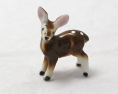 Tiny Fawn Deer Figurine  Bone China Made in by Vintage4Vintage, $14.00