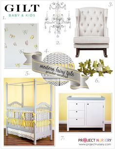 """I am all for a """"Modern Fairy Tale"""". Fit for a Prince or Princess. #baby #nursery"""