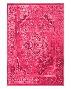 Alba Pink Vintage Style Area Rug | Follow @shophesby for more boho style home decor