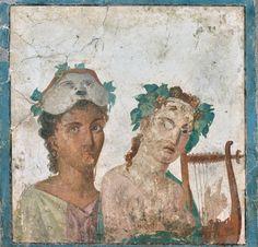 Fresco from Pompeii - Museo Archeologico Nazionale di Napoli #pompei #vesuvio #mosaic #fresco #naples #museum #scavidipompei #pompeiiruins #italy #ancient #archeology #herculaneum #faunopompei For your visit to Pompeii, you'll want to stay at the B&B Pompei Il Fauno www.bbfauno.com