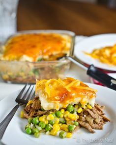 Pulled Pork Shepherd's Pie - good way to use up any leftover pork roast