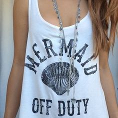 Mermaid Off Duty Tank Top Mermaid Shirt Tank by AngeliqueApparel