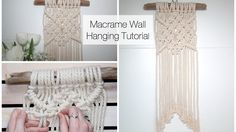How to make a Macrame Wall Hanging. In this tutorial, I show you how to make a simple Macrame Wall Hanging pattern. This DIY craft is perfect for beginners as it is easy to follow! This design uses three basic macrame knots: a lark's head knot to tie to t. Tutorial, How, Beginners, Make, Tuto,