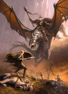 """Éowyn and the Nazgul"" by Craig J. Spearing"