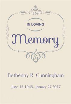 In Loving Memory - Cross Stitch Pattern | memorial cross stitch ...