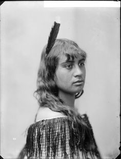 Te Onetu Metekingi - Photograph taken by William Henry Thomas Partington