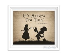 Alice In Wonderland Art Print Mad Hatter Quote by ShayItWithLove