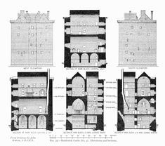 wildoute:  Borthwick CastleElevations & Sectionsfrom drawings by John Watson