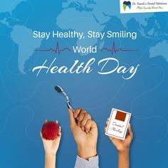 This World Health Day let's pledge to put our health first! Sunali's Dental Solutions wishes you and your family good health and prosperity. Root Canal Treatment, Best Dentist, Dentist In, Smile World, World Health Day, Dental Care, How To Stay Healthy, Dental Caps