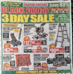 Harbor Freight Black Friday 2017 Ad - http://www.olcatalog.com/harbor-freight-tools/harbor-freight-black-friday.html