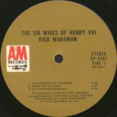 Rick Wakeman - The Six Wives Of Henry VIII (Vinyl, LP, Album) at Discogs