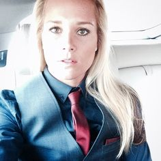Man Ashlyn Harris' style is simply amazing! Normally not into the whole tomboy look but she works it like a boss! Love her tie and waistcoat combos.