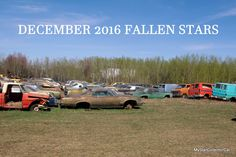 MSCC December 2016--25 old rides that won't be coming home for Christmas. See them all in this link: http://mystarcollectorcar.com/december-2016-mscc-fallen-stars-some-yards-are-pure-gold-for-variety/