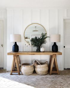 The Entry Table Ideas are small things we require to think about for space decor. The Entry Table Ideas are small things we require to think about for space decor especially for spe Sweet Home, Entry Tables, Console Tables, Console Table Styling, Hallway Tables, Entry Hall Table, Side Table Styling, Entryway Console Table, Wooden Console Table