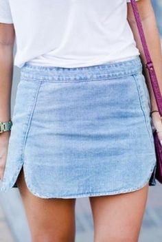 Street style - skirt Jupe en jean