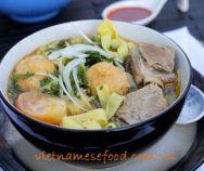 Vermicelli with Pork Skin and Roasted Rice Recipe (Bún Bì) Easy Vietnamese Recipes, Vietnamese Cuisine, Vietnamese Noodle, Pork Broth, Pork Meat, Noodle Recipes, Rice Recipes, Fishball Recipe, Recipe 30