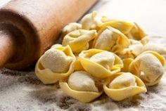 Prawn tortellini with tarragon and lemon butter Filled Pasta, Dough Ingredients, Honey Almonds, Yummy Food, Tasty, Lemon Butter, Fresh Pasta, Lactose Free, Bolognese