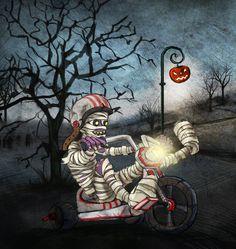 Halloween Landscape by Iva Ivanova, via Behance Spooky Background, Happy Halloween, Spiderman, Concept Art, Digital Art, Presents, Behance, Animation, Superhero
