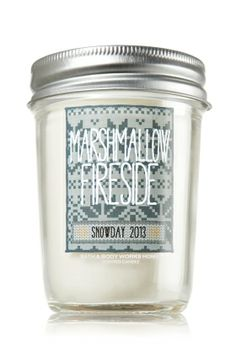 Marshmallow Fireside 6 oz. Mason Jar Candle - Slatkin & Co. - Bath & Body Works