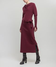 Look at this BGL Plum Belted Drape Maxi Dress on #zulily today!