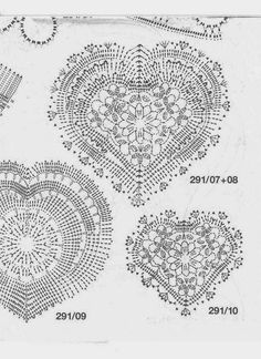 My home sweet home: Corazones tejidos a Crochet Filet Crochet, Crochet Motifs, Crochet Diagram, Crochet Chart, Crochet Squares, Thread Crochet, Love Crochet, Irish Crochet, Crochet Doilies
