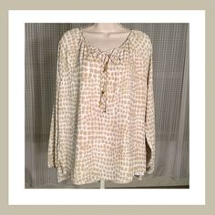 Michael Kors Blouse Brand new with tag. Never worn. Size 10. Polyester. 15% off two items or more.  Trades  PP. Reasonable offers always welcome Free shipping with orders over $75  Michael Kors Tops Blouses