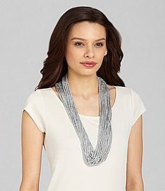 Eileen Fisher Metallic Necklace-Inspired Scarf