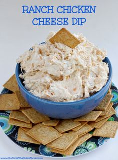 Ranch Chicken Cheese Dip - Only 4 ingredients and less than 5 minutes to make and serve! Butter With a Side of Bread Chicken Cheese Dip - Only 4 ingredients and less than 5 minutes to make and serve! Butter With a Side of Bread Yummy Appetizers, Appetizer Recipes, Snack Recipes, Cooking Recipes, Cooking Tips, Chicken Dips, Ranch Chicken, Buffalo Chicken, Chicken Recipes