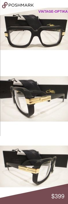 8ba9123b317 CAZAL 607 EYEGLASSES (MATT BLACK GOLD) AUTHENTIC These are 100% Genuine