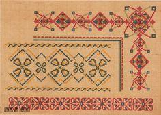 Схема вышивки каймы