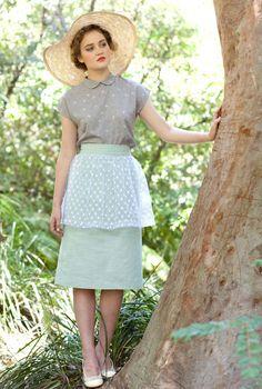 Peplum Skirt - Banana Split Skirt, Mint.