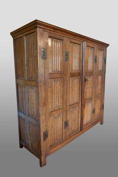 Marhamchurch antiques, linenfold armoire, circa 1500