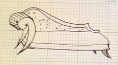 Sketch for 'Fainting Couch' Toddler Bed {Sawdust and Embryos}
