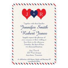 Americana Hearts Wedding Invitation | Zazzle.com