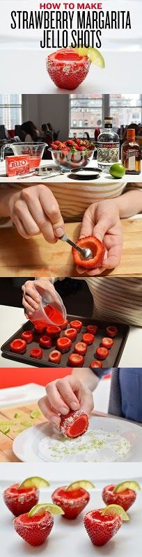 Strawberry Margarita Jello Shots would be a present that would make me a happy happy person -NG