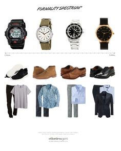 Pairing your watch with your outfit, man, guys have getting dressed so EASY! Mens Style Guide, Men Style Tips, Ankara Clothing, Gents Fashion, Dapper Men, Mens Clothing Styles, Fashion Branding, Classy Outfits, Style Guides